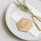 SEI place card gold